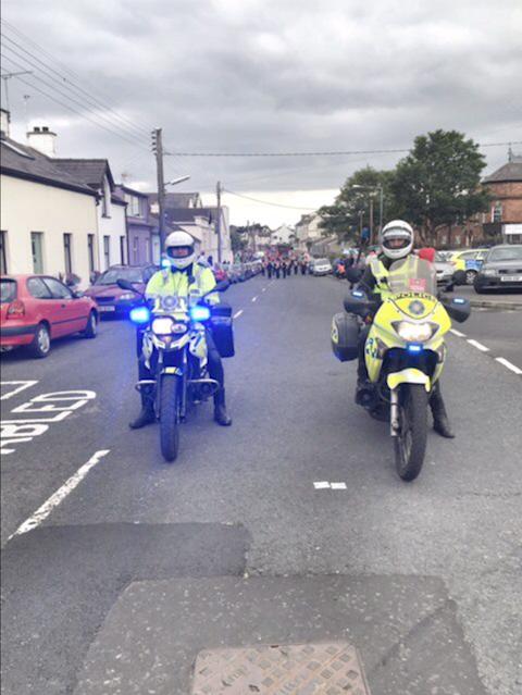 Twelfth of July police bikes