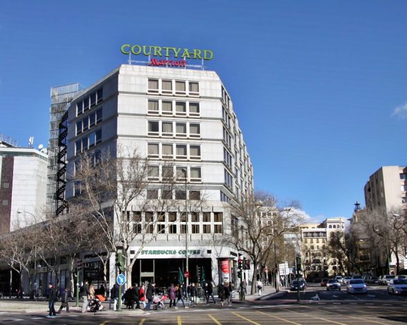 The four star Courtyard Hotel by Marriott in Madrid, ~Spain