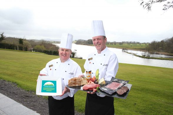 The Killyhevlin Lakeside Hotel is celebrating the first ever Fermanagh Restaurant Week by offering 'A Taste of Killyhevlin' Taster Menu from Monday 19th to Thursday 22nd September. Killyhevlin Executive Head Chef Kevin Watson (left), alongside Premier Sous Chef Trevor Shannon (right) have created the new 'A Taste of Killyhevlin' Taster Menu, paying close attention to local produce.