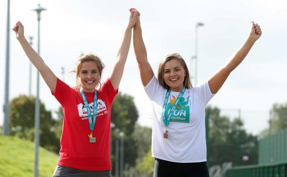 Former Miss Northern Ireland and fitness blogger Tiffany Brien launched the latest series of 5k fun runs across Northern Ireland, organised by leading convenience retailer Centra. PIC BY KELVING BOYES/PRESS EYE