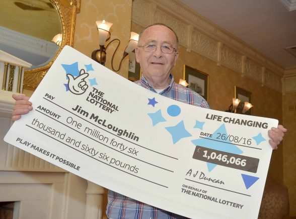 Newry man celebrates after becoming NI's latest millionaire: Jim McLoughlin (68) from Newry celebrates after picking up a cool £1,046,066 from a EuroMillions UK Millionaire Maker draw.