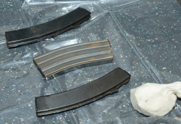 Three magazines were also found in Kelly's holdall, two of which fitted the sub machinegun
