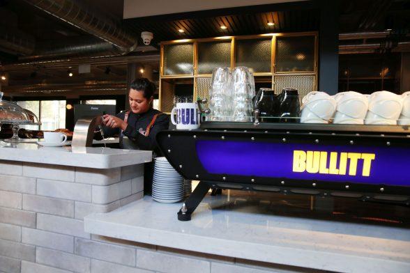 The Espresso bar at the Bullitt Hotel in Belfast