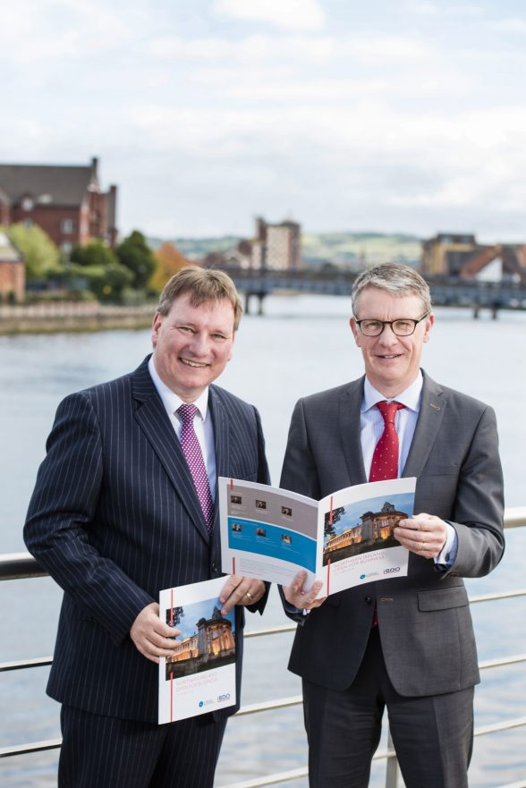 Peter Burnside; Partner BDONI and Richard Gray; Partner Carson McDowell launcing the NI Open for Business Report in Belfast. Picture: Elaine Hill