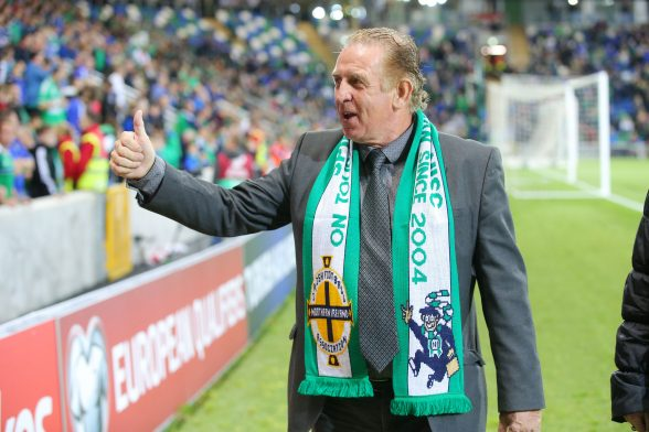 Gerry Armstrong pictured at the official opening ceremony. Photo by Kelvin Boyes / Press Eye