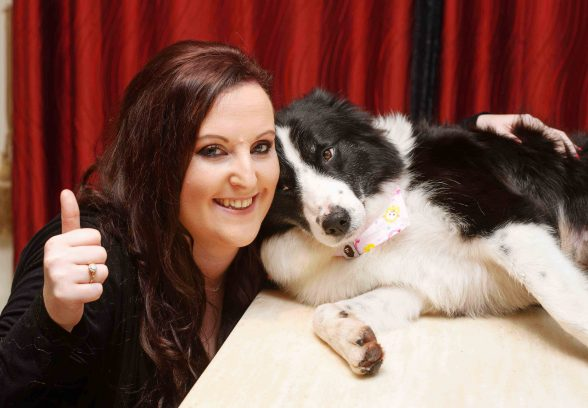 MAKE MINE A BRANDY.....Daisy, the six year old Border Collie, winner of Face of Brandy 2016 pictured with her owner Sarah Adams at home in Gort, Co. Galway.