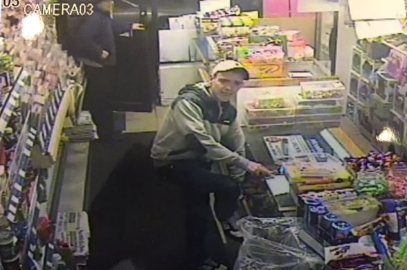 Police issue CCTV of thug Louis 'Luger' Maguire Jnr buying cigarettes after murdering Eamonn Ferguson with a claw hammer