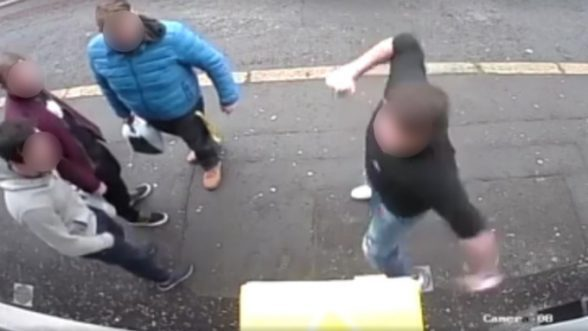 Thug caught on camera punching a defibrillator in east Belfast